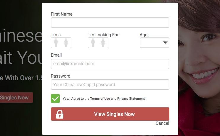 ChinaLoveCupid create account
