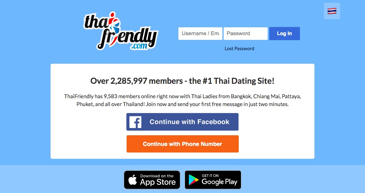 Thaifriendly.Com main page
